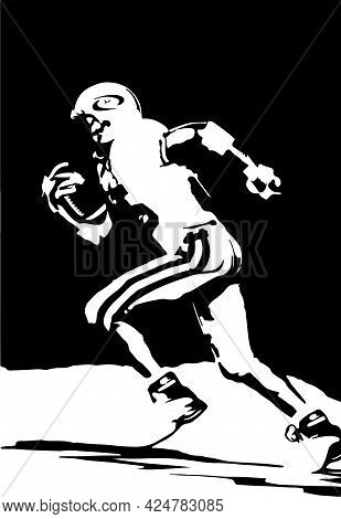 American Football Vector Illustration On Background , Sport, Sports, Stitches