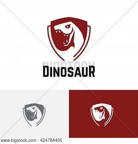 Tyrannosaurus Dinosaur Snake Serpent Shield Game Esport Logo