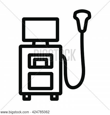 Ultrasound Diagnostic Machine Icon. Bold Outline Design With Editable Stroke Width. Vector Illustrat