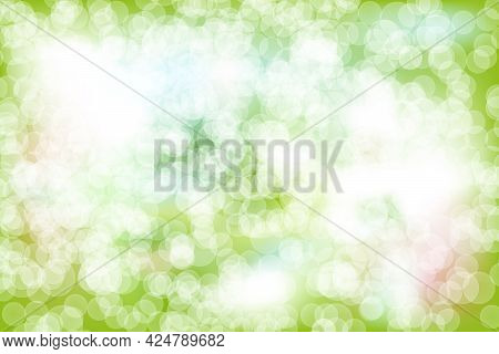 Abstract Background Vector Illustration With Natural Circle Bokeh Like Light Coming From A Tree Like