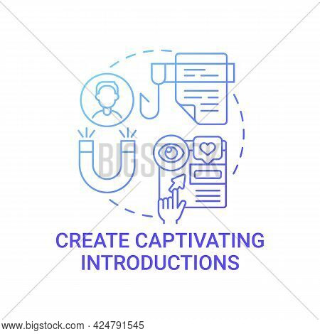 Create Captivating Introductions Concept Icon. Achieving High Awareness Level Abstract Idea Thin Lin