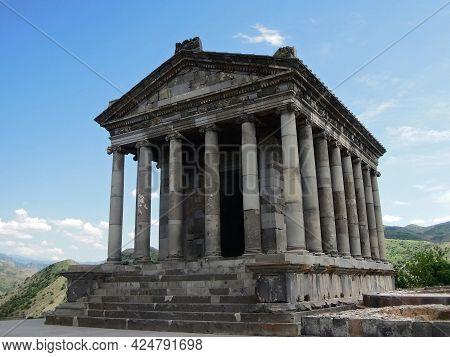 Temple Of Garni, Greco-roman Colonnaded Building In Garni, Armenia. Shrine Was Built In 77 Ad As Ded