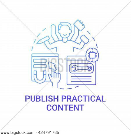 Publish Practical Content Concept Icon. Viral Content Creation Tip Abstract Idea Thin Line Illustrat