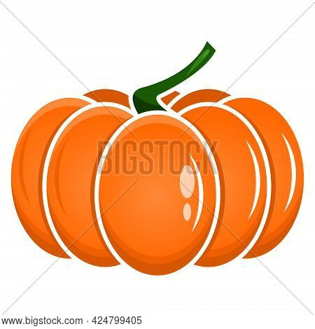 Traditional Halloween Faceless Isolated A Pumpkin Color