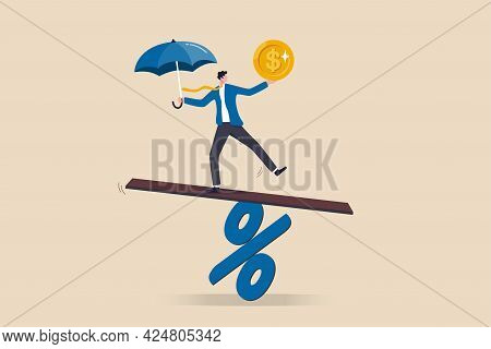 Central Bank Money Policy For Inflation Or Interest Rate, Balance Between Profit And Loss, Financial