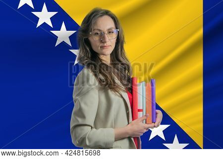 Librarian Day In Bosnia And Herzegovina. Book Day In Bosnia And Herzegovina. Celebrating Internation
