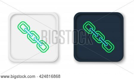 Line Chain Link Icon Isolated On White Background. Link Single. Hyperlink Chain Symbol. Colorful Out