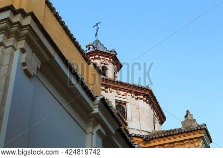Granada, Spain - May 20, 2017: This Is The Dome Of The Parish Of St. Mary Magdalene (17th Century).