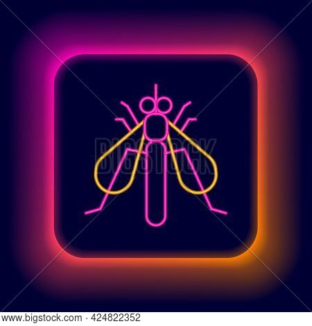 Glowing Neon Line Experimental Insect Icon Isolated On Black Background. Colorful Outline Concept. V