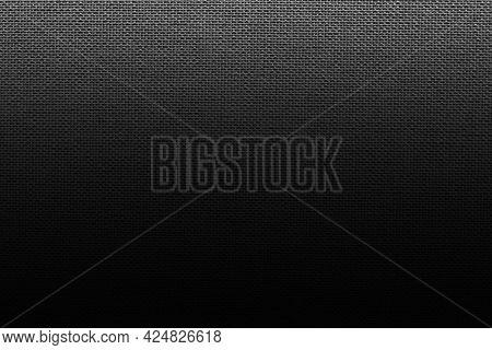 Black burlap textured background image