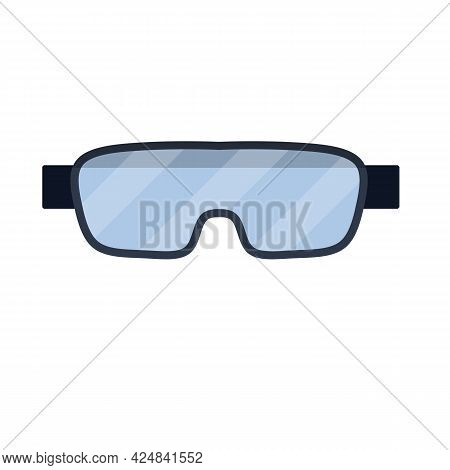 Goggles. Safety At Work And At An Industrial Plant. Flat Illustration