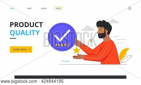 Quality Product Concept. Product Safety And Quality Control. Defective Product Testing, Inspection,