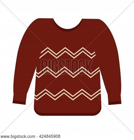 Brown Sweater On A White Background For Use In Clipart Or Web-