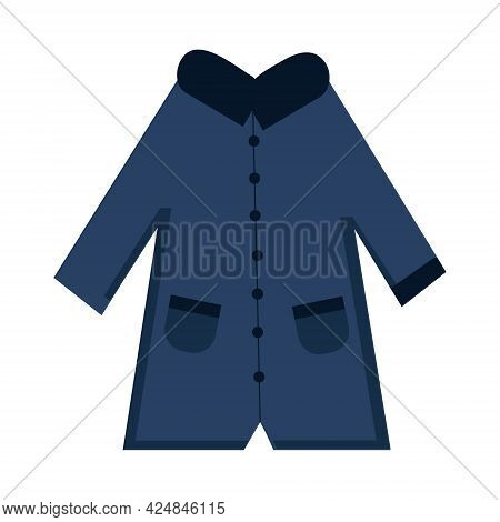 Blue Coats On A White Background For Use In Clipart Or Web Design
