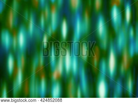 Olive Blue White Green Festive Background With Blur And Gradient. Space For Graphic Design And Creat