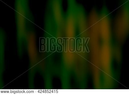 Green Black Orange Brown Background With Blur And Gradient. Space For Graphic Design And Creative Id