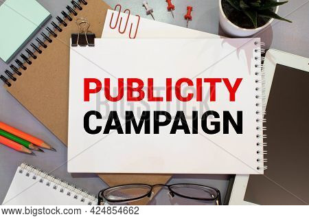 Publicity Campaign. The Meeting At The White Office Table,