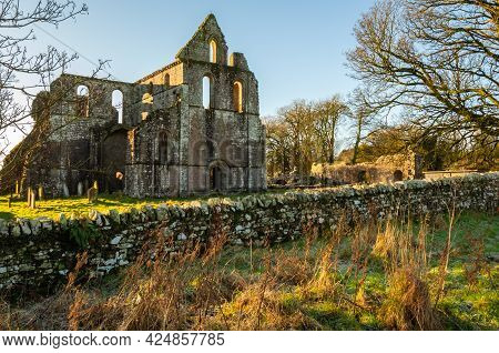 Remains Of Dundrennan Abbey, In Winter, Dumfries And Galloway, Scotland