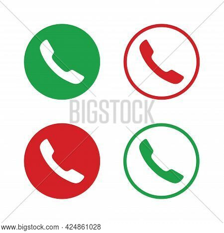 Telephone Flat Vector Icon Good For Apps And Websites. Telephone Symbol. Icon Telephone Call. Contac