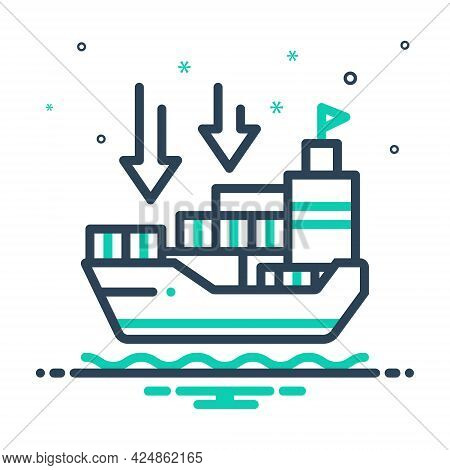 Mix Icon For Importers Import-goods Shipping Transport Carriage Ship