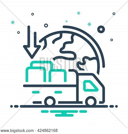Mix Icon For Importers Import-goods Shipping Transport Carriage