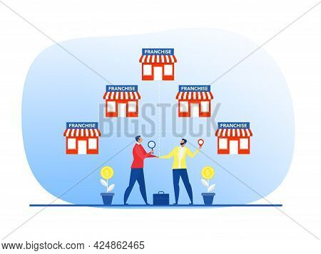 Businessman Offer Invest With Small Business Or Franchise Branch Expansion Strategy Of Financial Mar