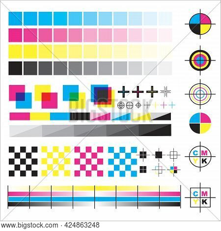 Color Wheel And Palette Cmyk Table Sample Gradient