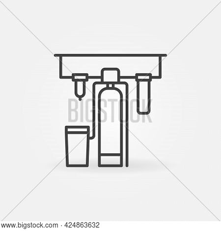Water Purification Process Filtration Systems Vector Icon