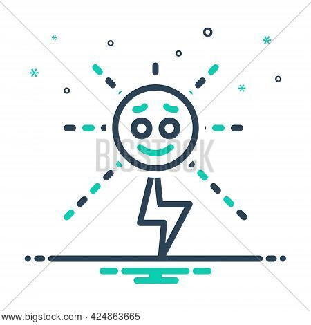 Mix Icon For Energy Strength Potency Vigor Mightiness Solar