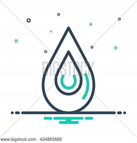 Mix Icon For Drop Blob Droplet Drip Driblet