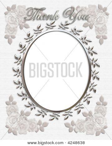 Dankeschön-Karte Hochzeit Frame oval
