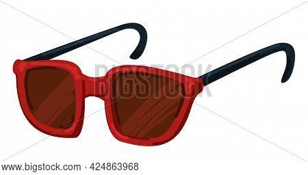Red Sunglasses, Unisex Model Of Eyewear For Summer