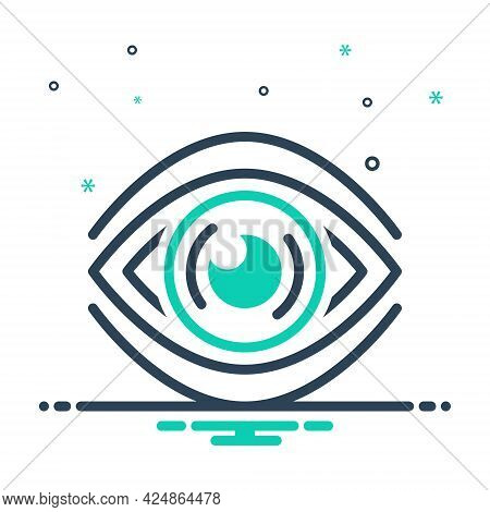 Mix Icon For See Discern Scrutinize Sight Vision Observation