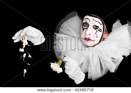 Female Clown With Broken Heart
