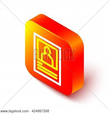 Isometric Line Wanted Poster Icon Isolated On White Background. Reward Money. Dead Or Alive Crime Ou