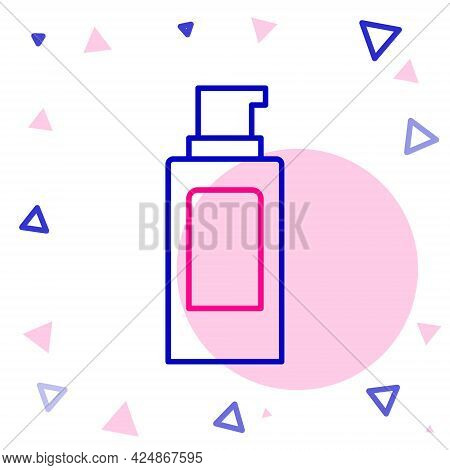 Line Spray Can For Hairspray, Deodorant, Antiperspirant Icon Isolated On White Background. Colorful