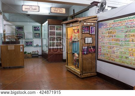 Ban Sop Ruak, Thailand - December 18, 2018: A Fragment Of The Exposition Of The Museum