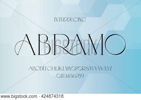 Abstract Minimal Modern Alphabet Fonts. Typography Technology Electronic Digital Music Future Creati