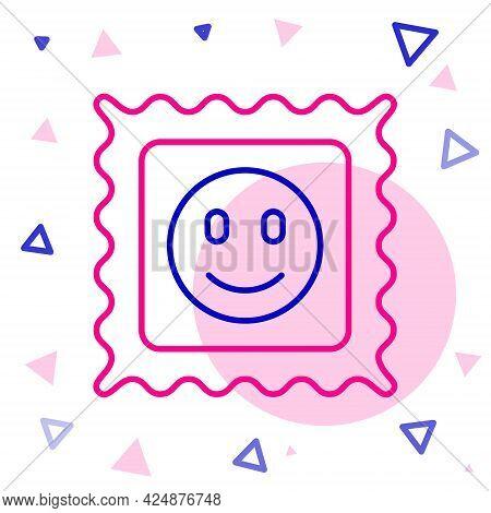 Line Lsd Acid Mark Icon Isolated On White Background. Acid Narcotic. Postmark. Postage Stamp. Health