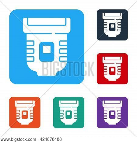White Epilator Icon Isolated On White Background. Depilation By Electric Razor. Hair Removal On The