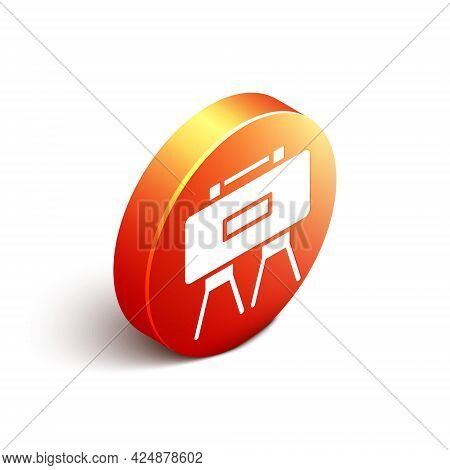 Isometric Military Mine Icon Isolated On White Background. Claymore Mine Explosive Device. Anti Pers