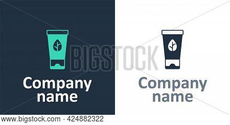 Logotype Organic Cosmetic Icon Isolated Logotype Background. Body Care Products. Logo Design Templat
