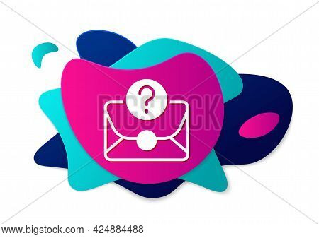 Color Envelope With Question Mark Icon Isolated On White Background. Letter With Question Mark Symbo