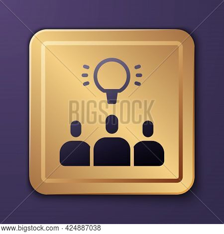 Purple Project Team Base Icon Isolated On Purple Background. Business Analysis And Planning, Consult