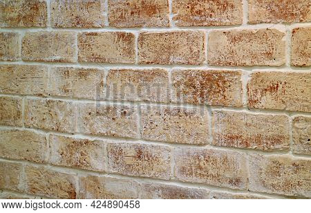 Grunge Brick Wall In Diminishing Perspective, Texture Background