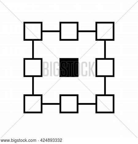 Align Center Icon On White Background. Flat Style.