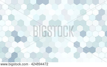 Abstract Geometric Hexagon With Technology Digital Hi Tech Concept Background. Hexagon Pattern. Vect