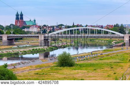 Poznan. The Bridge Of St. Roch On A Summer Evening.