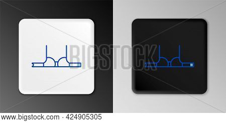 Line Bra Icon Isolated On Grey Background. Woman Underwear. Colorful Outline Concept. Vector