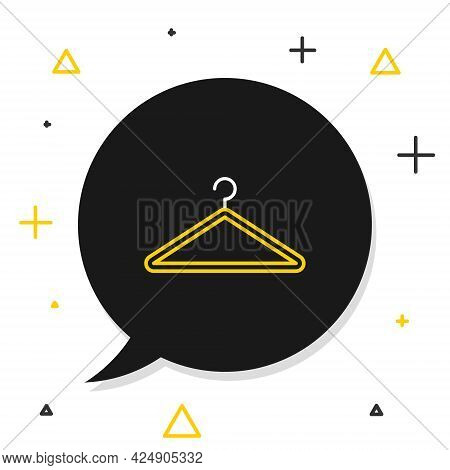 Line Hanger Wardrobe Icon Isolated On White Background. Cloakroom Icon. Clothes Service Symbol. Laun